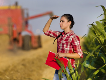 Student in a Corn Field